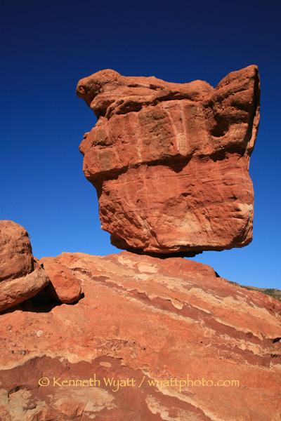Kenneth Wyatt Photography Colorado Garden Of The Gods Balanced Rock Rock Colorado Springs C