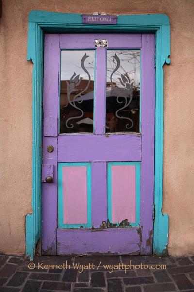 santa fe new mexico door doorway color photo - Santa Fe Colors